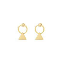 Oorbellen mini triangles goud