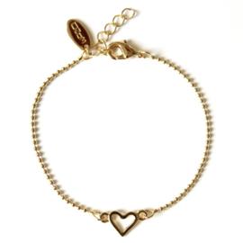 Armband ozom goud hart