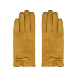 Handschoenen strik geel