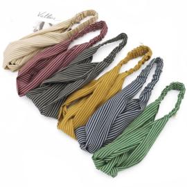 Haarband streepjes bruin