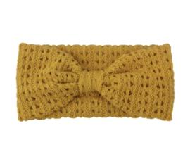 Haarband winter braided geel