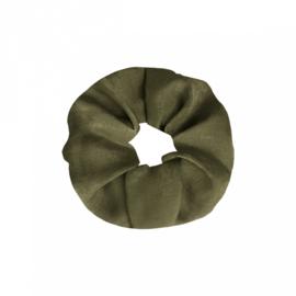 Scrunchie haarelastiek groen