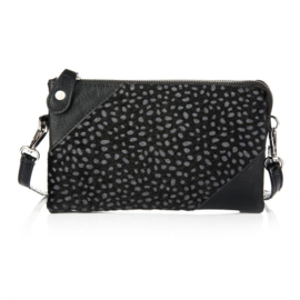 Clutch tas cheetah zwart