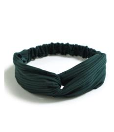 Haarband ribbel groen