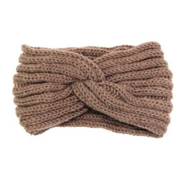 Hoofdband winter knot taupe