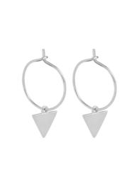 Creolen driehoek zilver