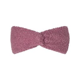 Hoofdband teddy roze