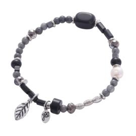 Armband beads zwart