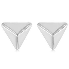 Oorbellen triangel zilver