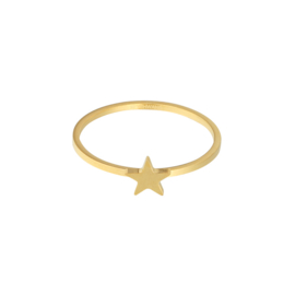 Ring ster goud #17