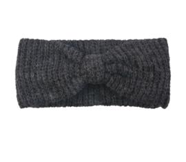 Haarband winter antraciet grijs