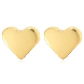 Oorbellen hart goud