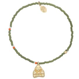 Armband buddha groen