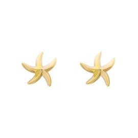 Oorstekers zeester goud