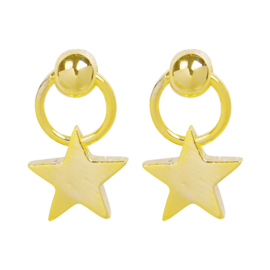 Oorbellen mini star goud