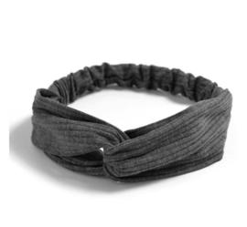 Haarband ribbel grijs