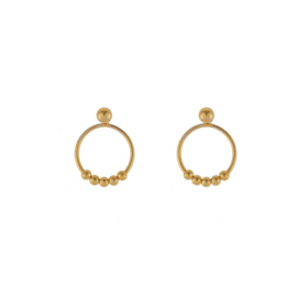Oorbellen tiny rounds goud