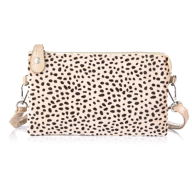 Clutch tas cheetah beige croco