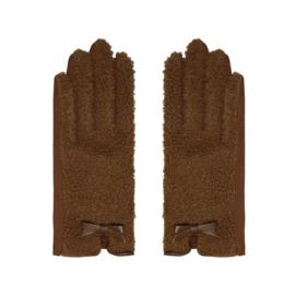 Handschoenen teddy bruin