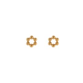 Oorbellen mini cirkel goud