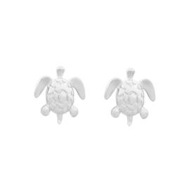 Oorstekers schildpad zilver