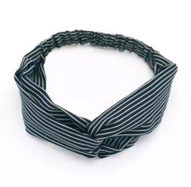 Haarband streepjes blauw