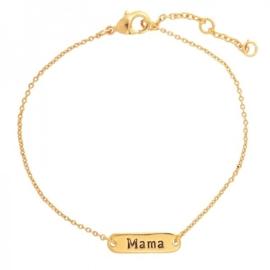 Armband goud mama