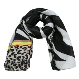 Sjaal safari zwart