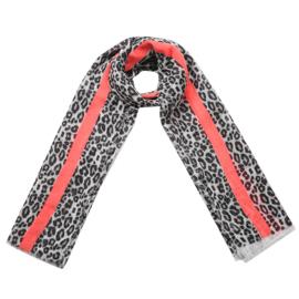 Sjaal luipaard koraal