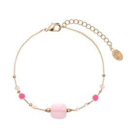 Armband beads roze