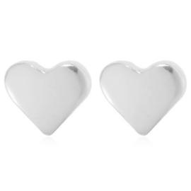 Oorbellen hart zilver