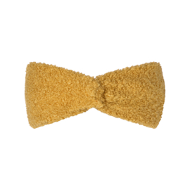 Hoofdband teddy geel