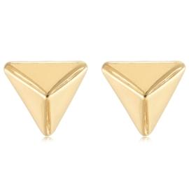 Oorbellen triangel goud