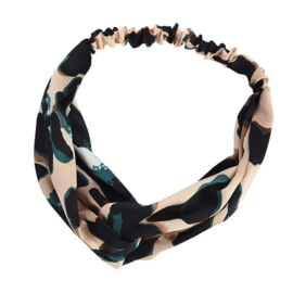 Haarband luipaard groen