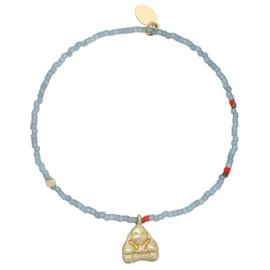 Armband buddha grijs