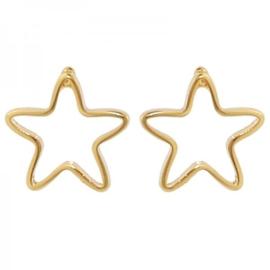 Oorbellen ster goud