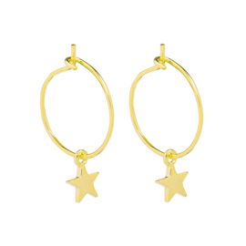 Oorbellen creolen ster goud