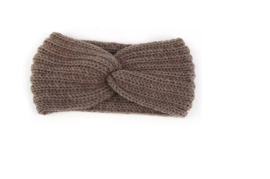 Hoofdband winter knot taupe