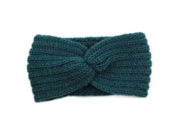 Hoofdband winter knot turquoise