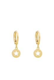 Oorbellen goud ster 3.0