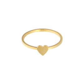 Ring hartje goud #18