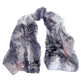 Sjaal multi grijs