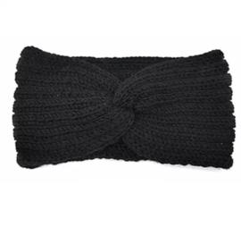 Hoofdband winter knot zwart