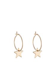 Oorbellen goud ster