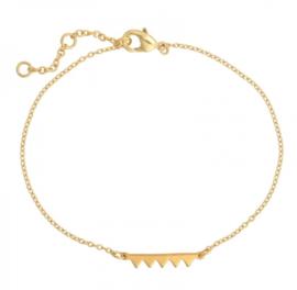 Armband zigzag goud