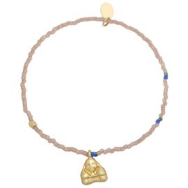 Armband buddha bruin