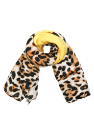Sjaal luipaard geel