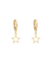 Creolen ster goud