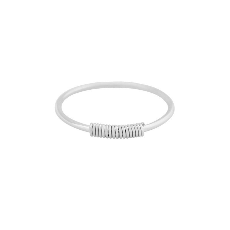 Ring wired zilver #18