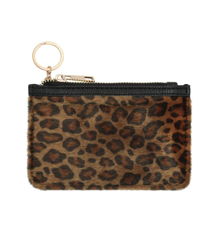 Portemonnee luipaard klein bruin